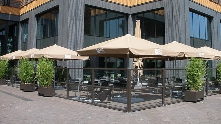 Barandilla de Cristal para Porches, Restaurantes, etc.