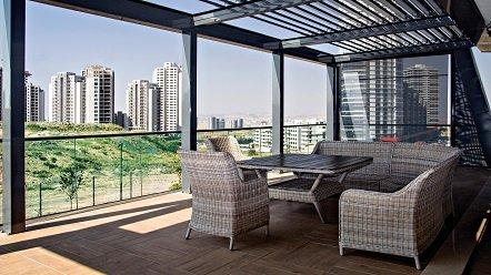 Pérgola Bioclimática de aluminio para terrazas